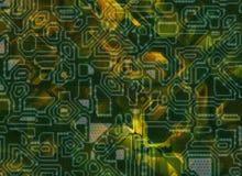 De veelvoudige futuristische abstracte achtergronden van technologie Stock Foto's