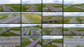 De veelvoudige video's van het de schermenvervoer Vervoer, levering, reizend concept stock footage