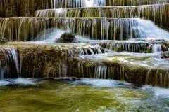 De veelvoudige waterval van de laagstroom Royalty-vrije Stock Afbeeldingen