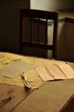 De veer en het document van het stilleven Royalty-vrije Stock Foto
