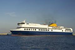 De veerboot in de zeehaven Royalty-vrije Stock Foto