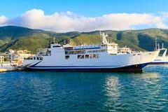 De veerboot op de Middellandse Zee stock foto's