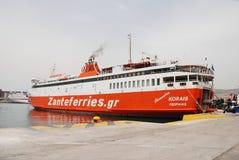 De veerboot van Adamantios Korais, Piraeus Stock Fotografie