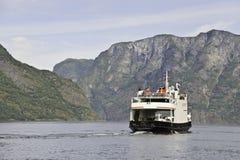 De Veerboot van Aurland stock afbeelding