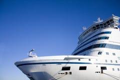 De veerboot van de auto en van de passagier - voorzijde stock foto's