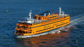 De Veerboot van het Eiland van Staten stock foto