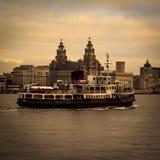 De veerboot van Mersey Stock Afbeeldingen