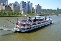 De Veerboot van Pittsburgh op de Rivier van Ohio Royalty-vrije Stock Foto