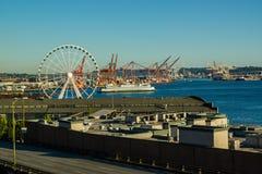 De Veerboot van Seattle het Aankomen Royalty-vrije Stock Afbeelding