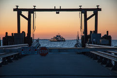De Veerboot van zonsopgangcurrituck stock foto's