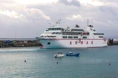 De veerboot Volcan DE Tindaya ARMAS Playa Blanca Lanzarote Stock Afbeeldingen