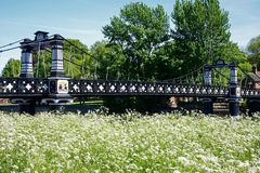 De Veerbootbrug, Burton op Trent royalty-vrije stock foto's