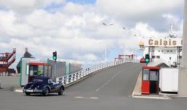 De veerbootterminal van de hoge snelheid - Poort Calais Frankrijk Stock Foto