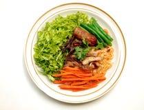 De vegetariër beweegt gebraden noedels Royalty-vrije Stock Afbeeldingen