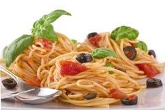 De vegetariër van de spaghetti Stock Foto