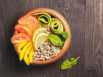 De vegetarische kom van Boedha Royalty-vrije Stock Fotografie