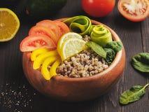 De vegetarische kom van Boedha Royalty-vrije Stock Foto's