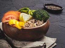 De vegetarische kom van Boedha Stock Foto's