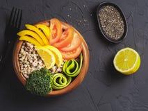 De vegetarische kom van Boedha Stock Fotografie