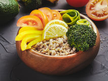 De vegetarische kom van Boedha Stock Afbeeldingen