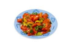 De vegetarische salade isoleert stock foto's