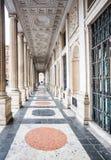 De Veii kolonnerna på Palazzo Wedekind, Rome, Italien Arkivbild