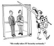De veiligheid van IT Stock Afbeeldingen