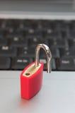 De veiligheid van de computer stock foto
