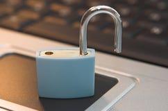 De veiligheid van de computer stock afbeelding