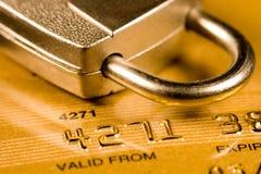 De Veiligheid van de Creditcard stock afbeeldingen