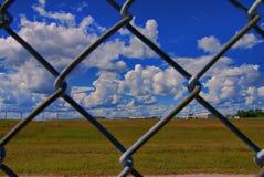 De Veiligheid van de luchthaven stock foto