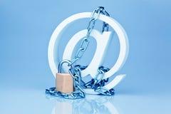 De veiligheid van gegevens op Internet. ateles Stock Afbeelding