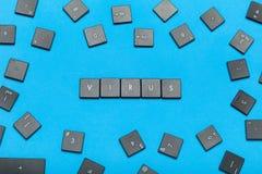 De veiligheid van het computervirus, Internet-veiligheid stock foto