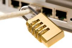 De veiligheid van het netwerk Stock Afbeeldingen