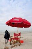 De veiligheid van het strand Stock Afbeelding