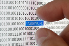 De veiligheid van het wachtwoord Royalty-vrije Stock Foto's