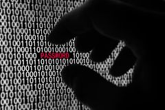 De Veiligheid van het Wachtwoord van de computer Stock Afbeeldingen