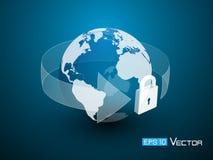 De veiligheid van het wereldslot Vector Illustratie