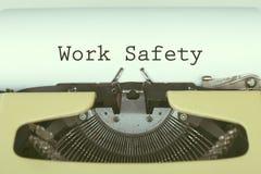 De veiligheid van het werk stock afbeeldingen