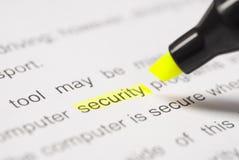 De veiligheid van Highlighter en van het woord royalty-vrije stock afbeeldingen