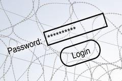 De veiligheid van Internet Stock Afbeelding