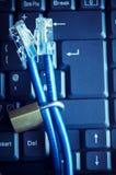 De Veiligheid van Internet en van de Computer Stock Afbeeldingen