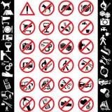 De veiligheid van pictogrammen Royalty-vrije Stock Afbeeldingen