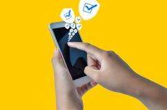 De veiligheid van de telefoon royalty-vrije stock afbeelding