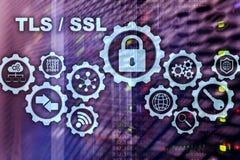 De veiligheid van de vervoerlaag Secure Socket Layer TLS-SSL De cryptografische protocollen verstrekken beveiligde mededelingen royalty-vrije stock afbeelding
