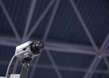 De veiligheidscamera van kabeltelevisie. Stock Afbeeldingen