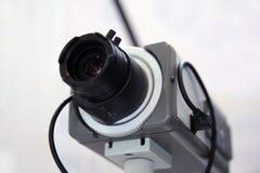 De veiligheidscamera van kabeltelevisie. Stock Afbeelding