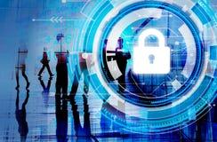De Veiligheidsconcept van de bedrijfs Collectief Beschermingsveiligheid stock afbeelding