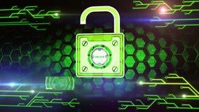 De veiligheidsconcept van de computer royalty-vrije illustratie