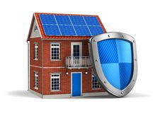 De veiligheidsconcept van het huis Stock Afbeelding